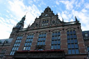 Het Academica gebouw rijksuniversiteit Groningen